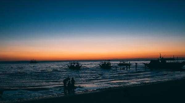 Boracay beach sunset philippines