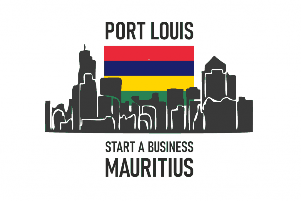 Port Louis Skyline with Country Flag, Start a Business