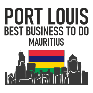 Best Business to do in Mauritus icluding the Skyline from Port Louis with the Country Flag