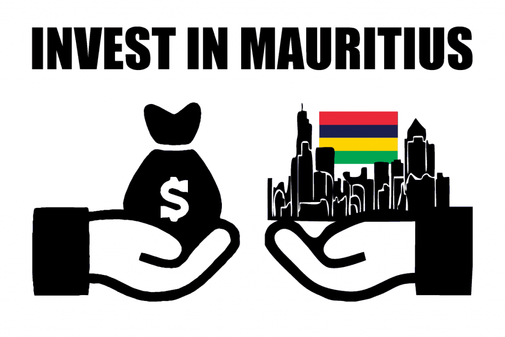 Invest in Mauritius with Money and Country Flag