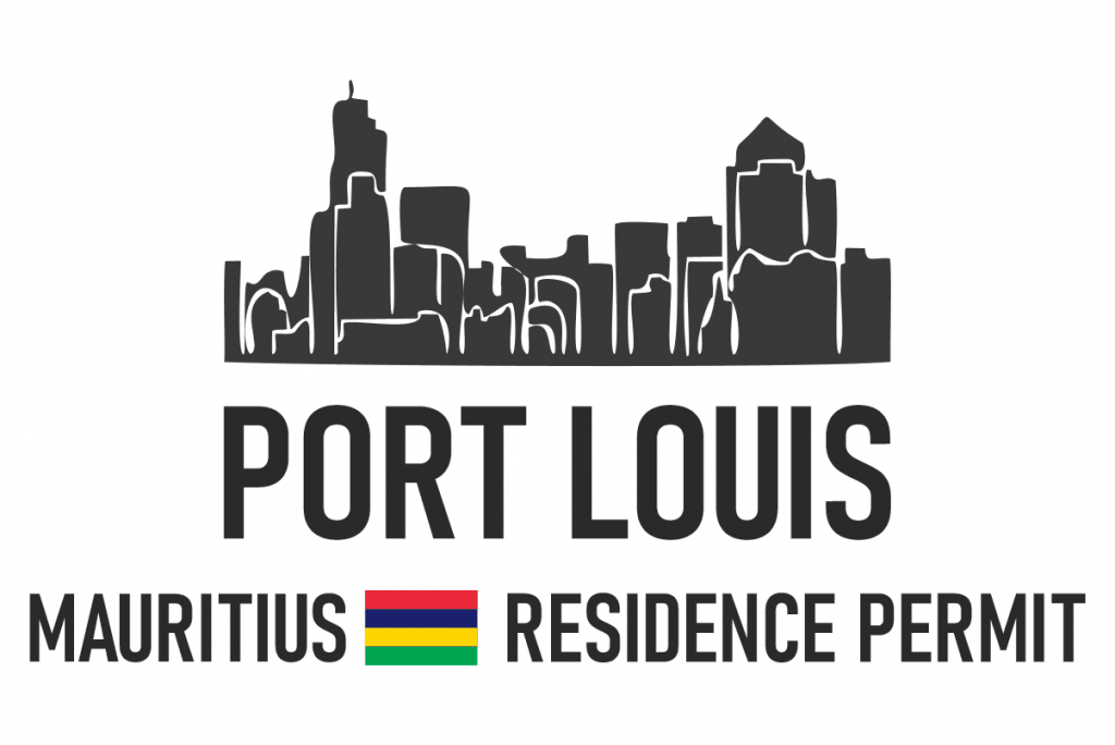 Skyline of Port Louis Mauritius Country Flag and Residence Permit